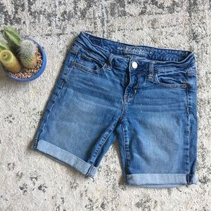 American Eagle Bermuda Jean Denim Shorts 4